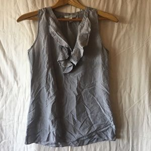 Banana Republic Silk Ruffle Sleeveless Blouse
